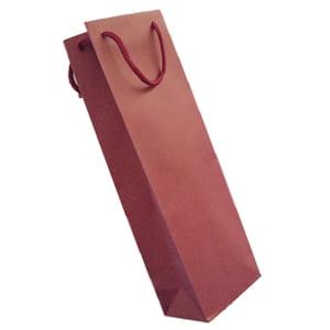 ワイン袋1本用無地ワインレッド
