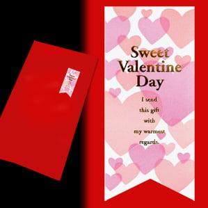 ギフト[2本用]包装紙:花柄/赤リボン