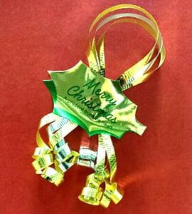 ギフト[2本用]【クリスマスギフト】カーリングリボン+クリスマスシール付き