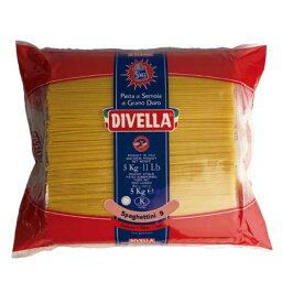 ディヴェッラ スパゲッティーニ (約1.55mm) 5kg x 3袋[ケース販売][メモス 食品 イタリア ロングパスタ 606-162]【キャンセル・返品不可】 母の日 父の日 ギフト