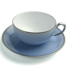 トワエモア ブルー ティー碗皿・大倉陶園