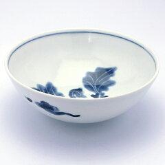 まだ寒い春のお鍋に・・・染付なずな文玉割鉢・植山昌昭