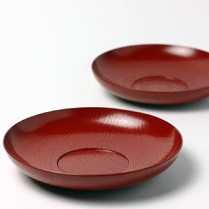山中漆器のろくろの技が美しい朱薄挽茶托[大]・守田漆器