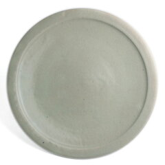 爽やかな朝に!白釉縁付8寸皿・杉本寿樹
