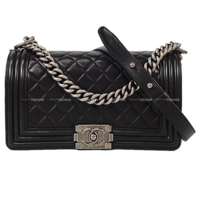 レディースバッグ, ショルダーバッグ・メッセンジャーバッグ CHANEL () A67086 (Pre-lovedBOY CHANEL Matelasse Chain Shoulder Bag Black Lambskin)