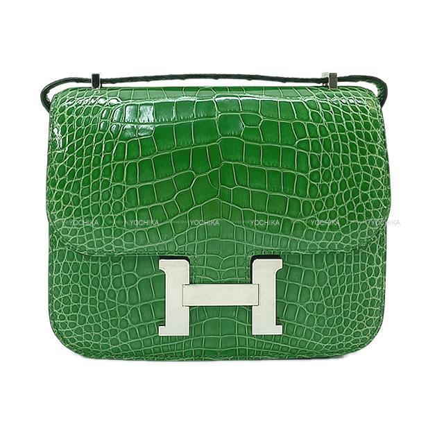 【ご褒美に★】HERMES エルメス ショルダーバッグ コンスタンス 3 18 カクタス アリゲーター 新品同様【中古】 ([Pre Loved]HERMES Shoulder bag Constance 3 18 Cactus Crocodile [Authentic])【あす楽対応】#yochika