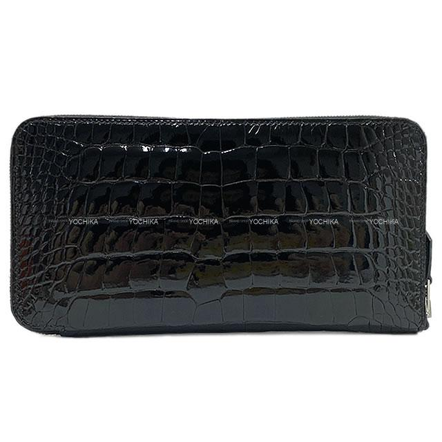 財布・ケース, レディース財布 HERMES () (HERMES Azapp Long Wallet Noir(Black) Crocodile Alligator SHWExhibition newAuthentic)yochika