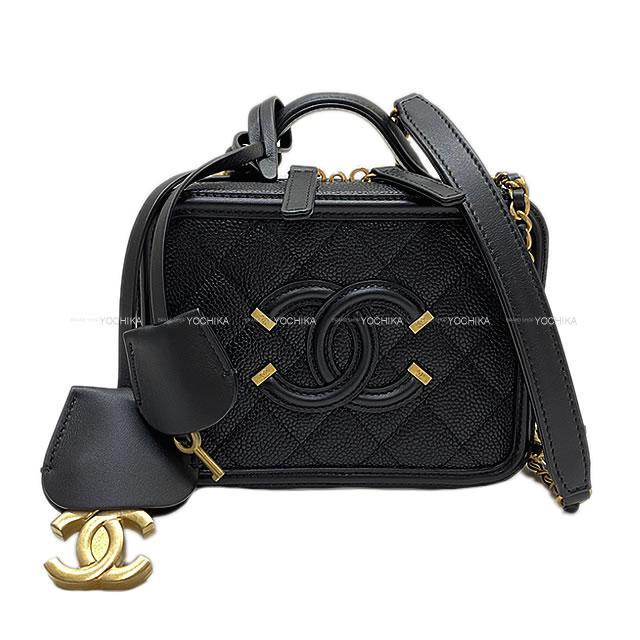 レディースバッグ, ショルダーバッグ・メッセンジャーバッグ CHANEL 2way () () A93342 (CHANEL Small vanity case bag Black Grained Calf(caviar skin) A93342 AGHW Brand newAuthentic)