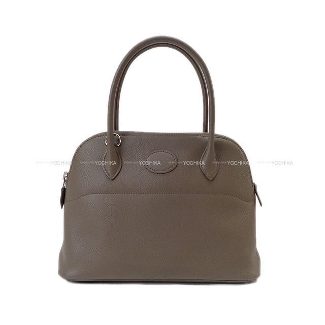 レディースバッグ, ハンドバッグ HERMES 27 (HERMES Handbag Bolide27 Etain Epsom SHWExhibition NewAuthentic)
