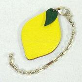 """【新作続々入荷中★】HERMES エルメス フルーツ バッグチャーム キーリング """"レモン"""" スフレ シェーブル シルバー金具 新品未使用 (HERMES Fruits Bagcharm Keyring """"Lemon"""" Souffle Chevre Myzore SHW[Never Used][Authentic])【あす楽対応】#yochika"""