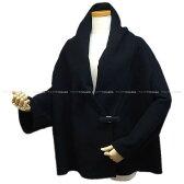 2015年 HERMES エルメス レディース ポンチョ マント ガウン ハーフコート #36 ネイビー カシミア100% 新品同様【中古】 ([Pre-loved]HERMES Lady's Poncho Gown Half Coat #36 Navy Cashmere 100% [Near mint][Authentic])【あす楽対応】#yochika