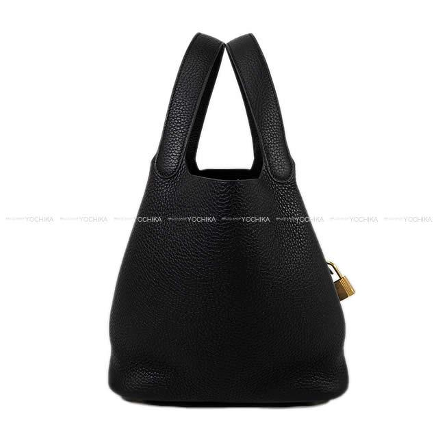 レディースバッグ, ハンドバッグ HERMES 22 MM () (Hermes Handbag Picotin Lock MM Noir(Black) Taurillon Clemence GHWBrand newAuthentic)