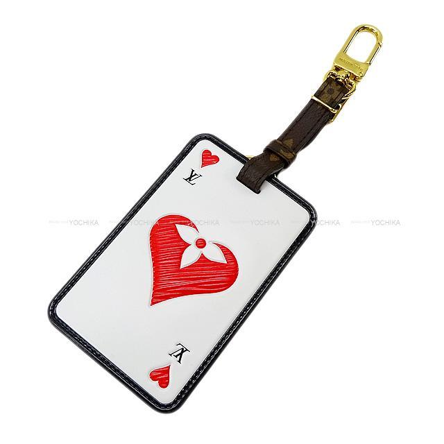 バッグ用アクセサリー, バッグチャーム LOUIS VUITTON XXX MP2912 (Heart Trump Bag Charm Bijoux Sack Tag Game On Card BrownBlackWhiteRed)yochika