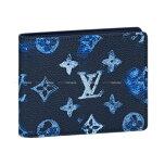 【ご褒美に★】LOUIS VUITTON ルイ・ヴィトン 二つ折り財布 ポルトフォイユ・スレンダー ライトブルー モノグラムレザー シルバー金具 M80464 新品 (Wallet Portofeuil Slender Light Blue Monogram Leather SHW)【あす楽対応】#yochika