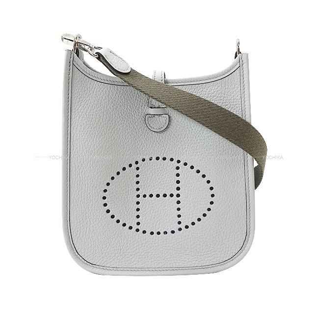 レディースバッグ, ショルダーバッグ・メッセンジャーバッグ HERMES 16 TPM (HERMES Shoulder Bag Mini Evelyne 16 TPM Bleu PaleEthane Taurillon Clemence Brand new)