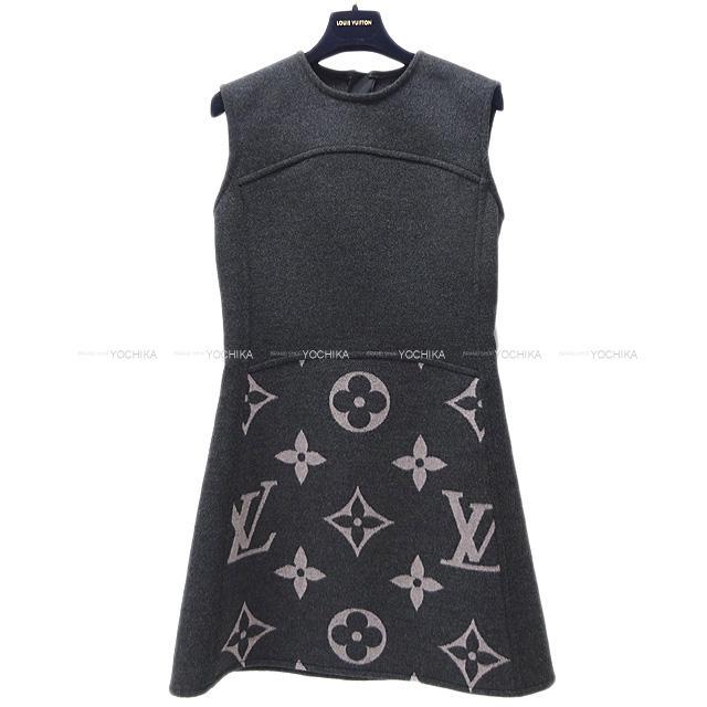 トップス, Tシャツ・カットソー  LOUIS VUITTON A 34 1A82LB (LOUIS VUITTON Ladies Sleeveless A-linedress In Wool Silkblend With 34 Never used)