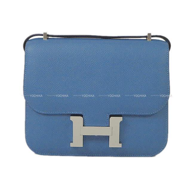 【ご褒美に☆】HERMES エルメス ショルダーバッグ コンスタンス 3 ミニ 18 アズール エプソン シルバー金具 新品 (HERMES Shoulder Bag Constance 3 Mini 18 Bleu azur Epsom SHW[Brand new][Authentic])【あす楽対応】#よちか