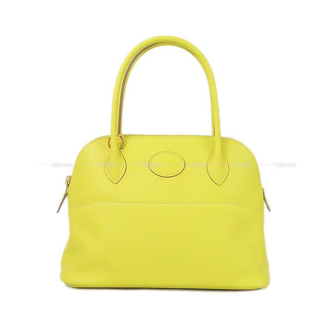 レディースバッグ, ショルダーバッグ・メッセンジャーバッグ HERMES 27 (HERMES Shoulder bag Bolide27 Lime Swift GHWBrand newAuthentic)