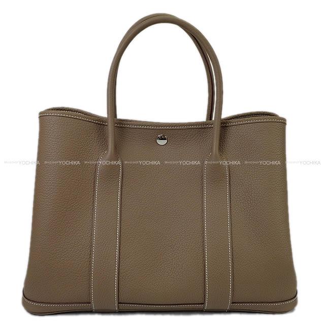 レディースバッグ, ハンドバッグ HERMES 36 PM () () (HERMES Handbag Garden Party Bag 36 PM Etoupe Negonda SHW Brand newAuthentic)