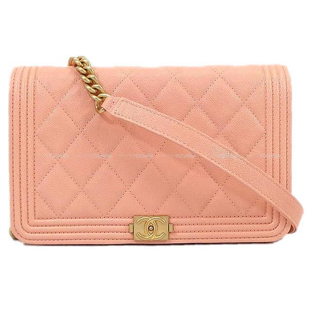 レディースバッグ, ショルダーバッグ・メッセンジャーバッグ CHANEL A81969 (Matelasse Chain Wallet Shoulder Bag Salmon pink)