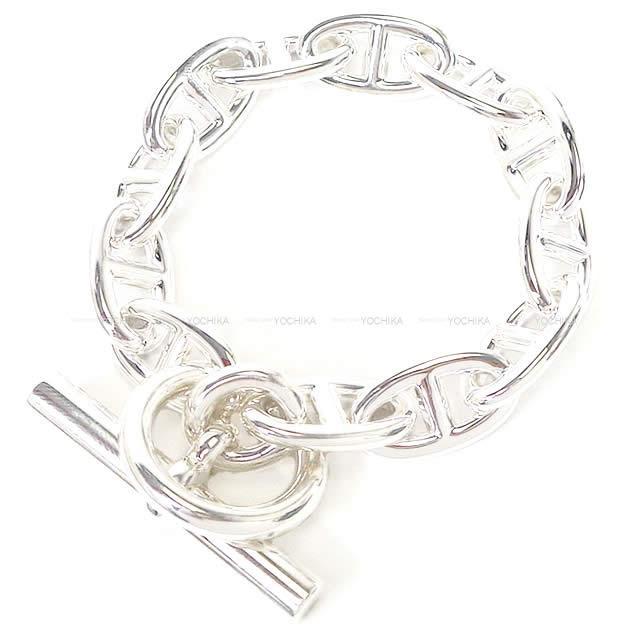 男女兼用アクセサリー, ブレスレット HERMES GM 12 925 (HERMES Bracelet Bangle Chaine Dancre GM Silver 925Brand newAuthentic)