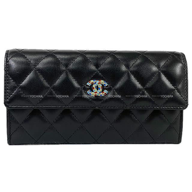 財布・ケース, レディース財布 CHANEL () AP0252 (CHANEL Cocomark Matelasse Flap Long Wallet Black Lambskin GHW AP0252)