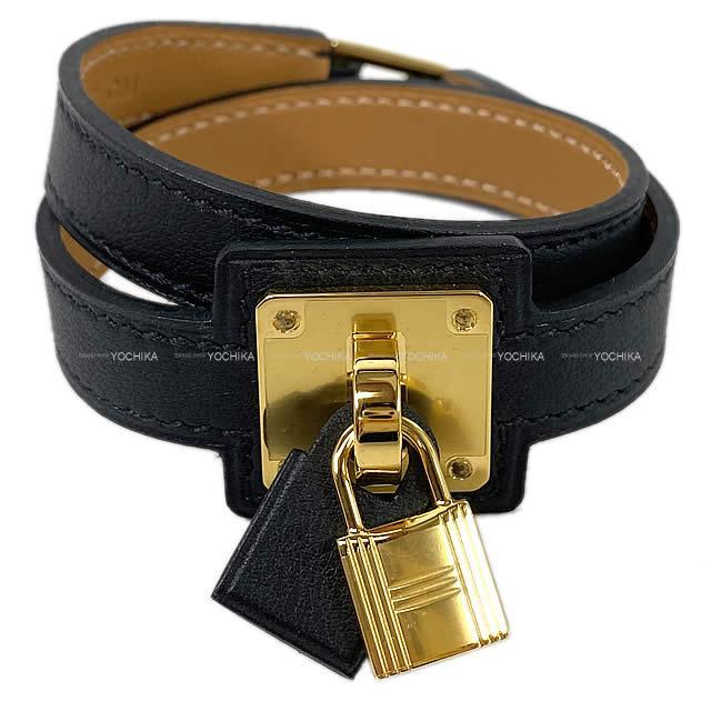 レディースジュエリー・アクセサリー, ブレスレット HERMES OKelly T3 () (HERMES OKelly Bracelet T3 Black(Noir) Swift GHWBrand newAuthentic)
