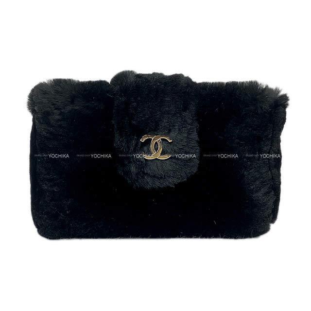 レディースバッグ, その他 CHANEL A68781 (CHANEL Coco mark Multi conmpact case Pouch Black Orylag fur A68781Never usedAuthentic)