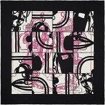 """【キャッシュレスポイント還元★】HERMESエルメススカーフカレ70""""ブリッドドゥガラ/無秩序""""黒(ブラック)XローズヴィフX白(ホワイト)ヴィンテージシルク100%新品(Carre70Scarf""""BridesdeGalaenD?sordre""""Noir/Rosevif/Blanc)【あす楽対応】#よちか"""
