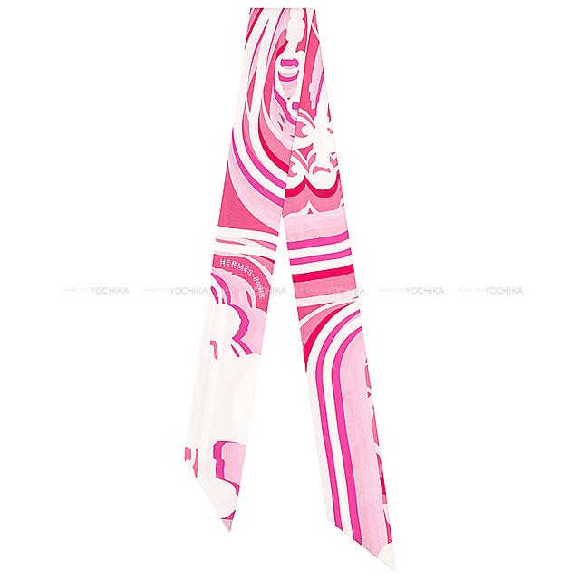 マフラー・スカーフ, ツイリースカーフ 2020 HERMES ()100 (Twilly Scarf Brides de Gala Shadow RoseBlanc (white)Fuchsia)