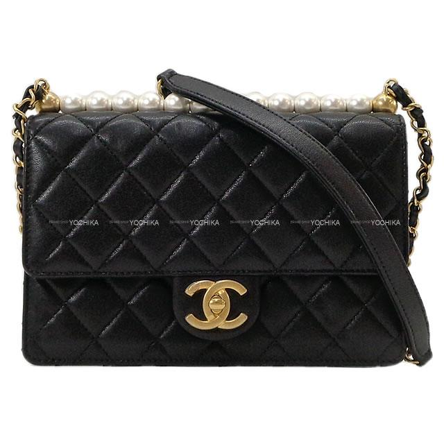 レディースバッグ, ショルダーバッグ・メッセンジャーバッグ 2020 () X AS0585 SA (CHANEL Matelasse Pearl Chain Shoulder bag Black AS0585USED SAAuthentic)