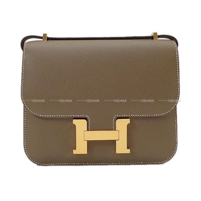 レディースバッグ, ショルダーバッグ・メッセンジャーバッグ HERMES 3 18 () (HERMES Shoulder bag Constance3 mini 18 Etoupe Epsom GHWBrand NewAuthentic)