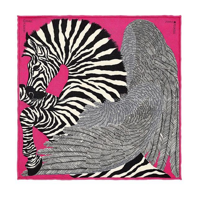 HERMES zebra pegasus scarf HERMES 20 X() 100 (HE...