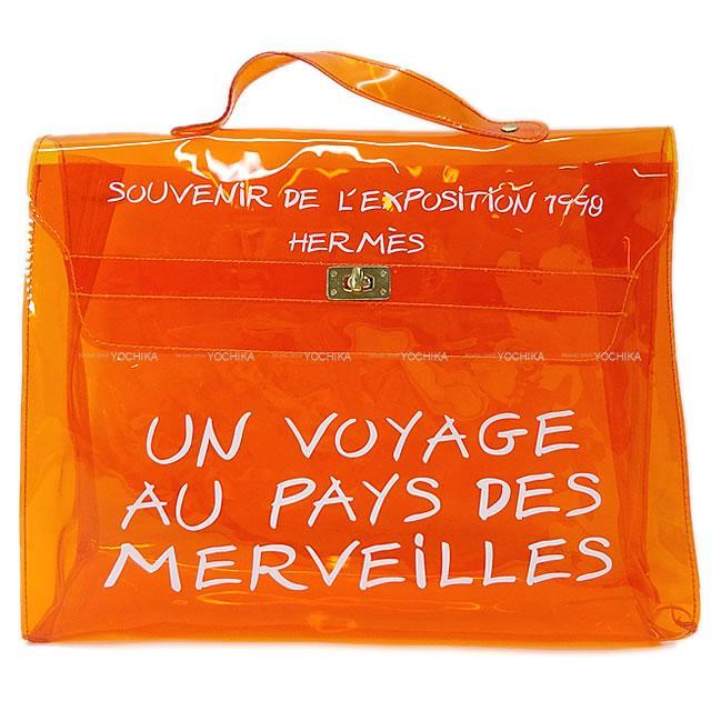 レディースバッグ, ハンドバッグ HERMES PVC (Pre-lovedHERMES Handbag Vinyl Kelly Orange PVC GHWNear mintAuthentic)