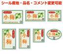 ヨドヤ包装シールShopで買える「【梅・カスタマイズ可能】小梅シール【商品の販売応援/野菜・果物・ラッピング】」の画像です。価格は70円になります。