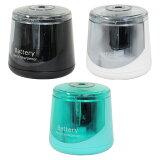 送料無料 【定形外郵便】 電池式 電動 鉛筆削り アルカリ電池 LR6-SP1 単3形 2本セット コンパクト なのにスイスイ削れます 手動 でも使用できます