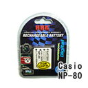 ネコポス発送カシオ(CASIO) NP-80 デジカメ用 互換バッテリー