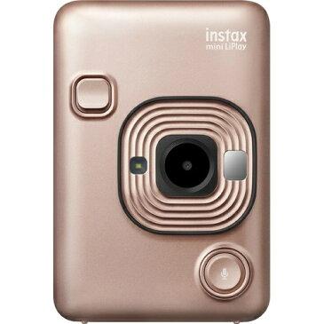 【送料無料・まとめ買い×10個セット】富士フィルム チェキ instax mini LiPlay ブラッシュゴールド