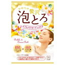 牛乳石鹸 お湯物語 贅沢泡とろ入浴料 プルメリアガーゼンの香り 30g ( お風呂 入浴剤 )