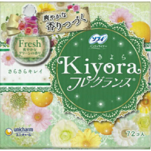 生理用品, パンティライナー  Kiyora 72 tr121