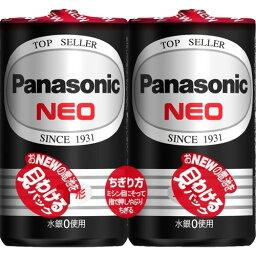 【送料込・まとめ買い×6個セット】パナソニック 単一形 マンガン乾電池 2個パック R20PNB/2VSE ネオ黒単1*2P