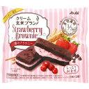 【送料無料・まとめ買い24個セット】アサヒ クリーム玄米ブラン 苺のブラウニー70g 1枚×2袋
