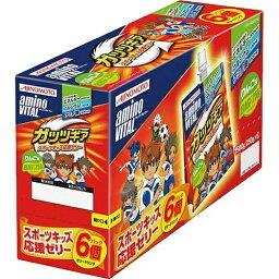 【クリアランスセール】味の素 アミノバイタル AMINO VITAL ガッツギア りんご味 6個パック