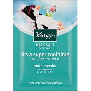 クナイプ バスソルト スーパーミントの香り 50g 夏仕様のバスソルト 入浴剤 4580294852982