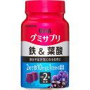【×12個セット送料無料】UHA味覚糖 グミサプリ 鉄&葉酸 ボトル 30日分 60粒 アサイーミックス味