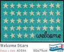 Welcome Stars 《A028A》50×75cm1枚クリーンテックス wash+dry丸洗い 吸水マット エントランス ウェルカムマット 裏面ゴム 滑り止め ..