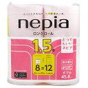 ネピア ロングトイレットロール 桜の香り/桜色 ダブル 45m8ロール...