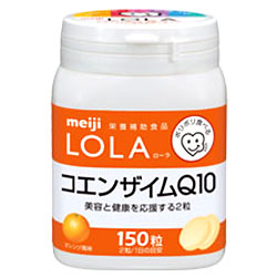 Meiji Lola LOLA Coenzyme Q10 Orange flavored 150 grain ★ total 1980 yen or more at ★