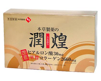 Jun-Tun-Huang (うるおう) hyaluronic acid and Mai Wah collagen 2 g × 60 stick