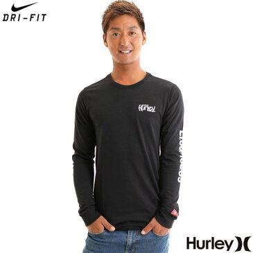 Hurley ハーレー ロンT メンズ 長袖 Tシャツ NIKE DRY-FIT 黒 JJF PARALLEL SEA TEE【楽天スーパーSALE限定 ポイントアップ】